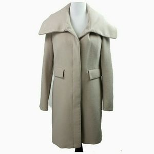 Zara wool blend coat full length size XL pea
